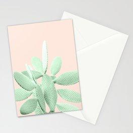 Green Blush Cactus #1 #plant #decor #art #society6 Stationery Cards