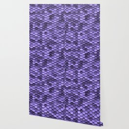 Mermaid Scales Periwinkle Ultra Violet Wallpaper