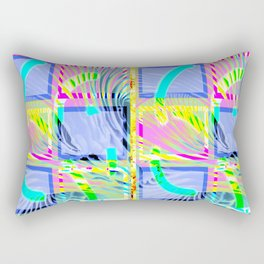 Collage with wavy lines 2 Rectangular Pillow
