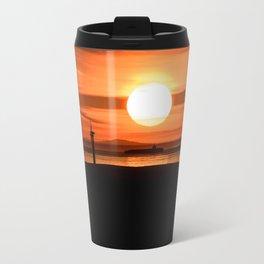 Isle of Anglesey View of Ireland Mountains Sunset Travel Mug