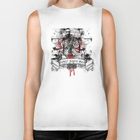 zombie Biker Tanks featuring Zombie by DaeSyne Artworks