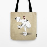 knight Tote Bags featuring Knight by rob art | illustration