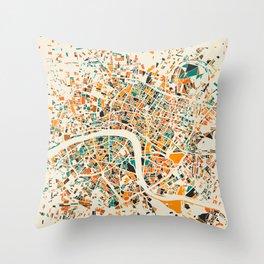 London Mosaic Map #4 Throw Pillow
