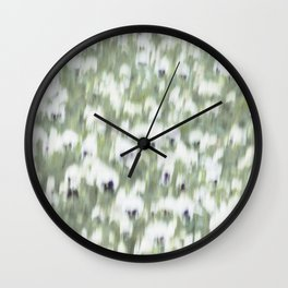 Pansy Field Floral Pattern II Wall Clock
