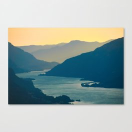 Columbia River Gorge at Sunset, from Courtney Ridge Canvas Print
