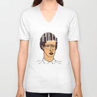napoleon V-neck T-shirts featuring Napoleon Nynamite by SleptAwoke