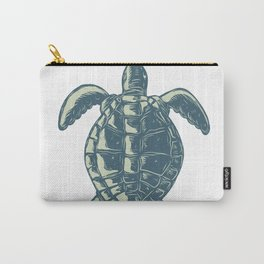 Sea Turtle Top View Scratchboard Carry-All Pouch