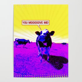 Psychedelic Cows Poster