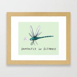 Damselfly in Distress Framed Art Print