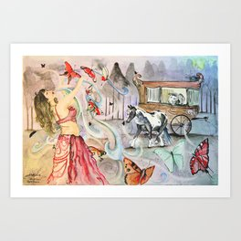 Gypsy Dance Art Print