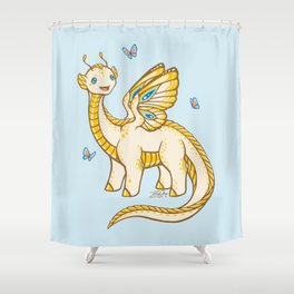 Golden Tipped Dragon Fly Shower Curtain