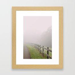 Fence to Nowhere Framed Art Print