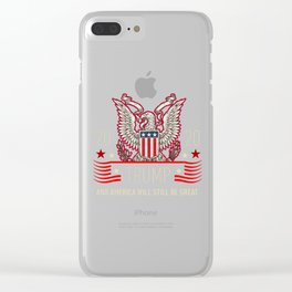 Trump Re-Election 2020 President Vote print Clear iPhone Case