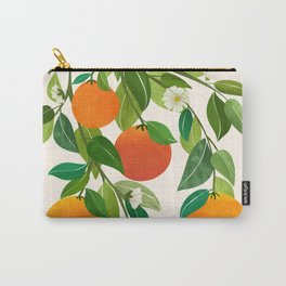 Oranges and Blossoms II / Tropical Fruit Illustration Carry-All Pouch