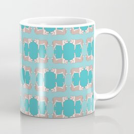 Spotted Dog with Collar Pattern Coffee Mug