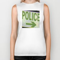 police Biker Tanks featuring police by XiXi