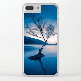 Padarn LakeTree Snowdonia Clear iPhone Case