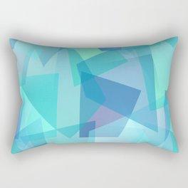 Blue Glass Shards Rectangular Pillow