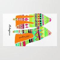heels Area & Throw Rugs featuring Aztec - Heels by RsDesigns