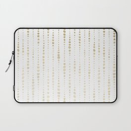 NYC Nights Gold Polka Dot Stripes Laptop Sleeve