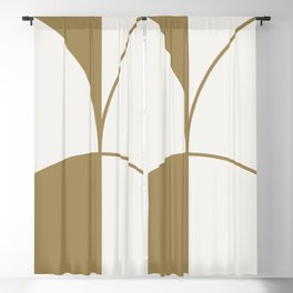 Diamond Series Round Solid Lines Gold on White Blackout Curtain