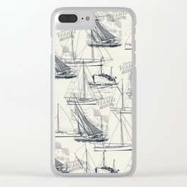 sailing the seas mode Clear iPhone Case