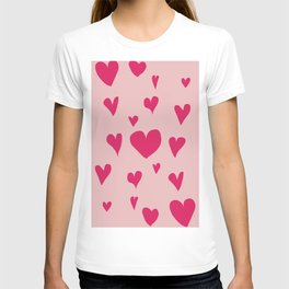 Imperfect Hearts - Pink/Pink T-shirt