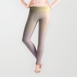 Pixel Gradient between Soft Yellow and Grayish Red Leggings