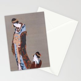 Katsushika Hokusai - Two Beauties (1820s) Stationery Cards