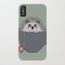 Holiday Tea Cup Hedgehog iPhone Case