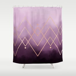 GEOMETRIC CLOUD Shower Curtain