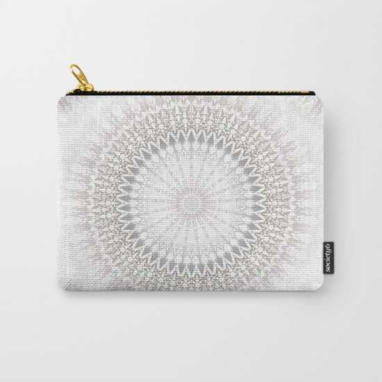 Pastel Gray Mandala 2 Carry-All Pouch