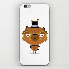 Cat with hat iPhone & iPod Skin