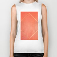 wooden Biker Tanks featuring Wooden Rhombus by Margheritta