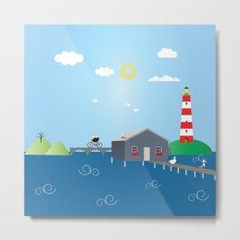 Home in Sea  Metal Print