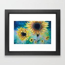 Supermassive Sunflowers Framed Art Print