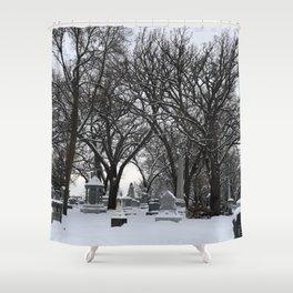 Haunted Winter Shower Curtain