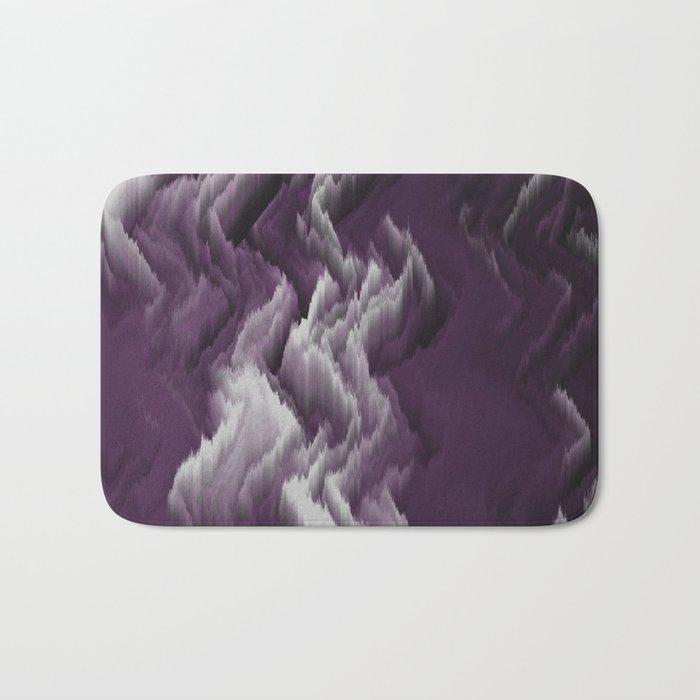 Purple, white, dark abstract. Bath Mat