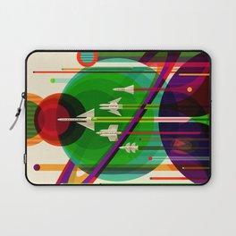 NASA Space Saturn Shuttle Retro Poster Futuristic Explorer Laptop Sleeve