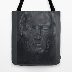 Portrait of man with eyes closed Tote Bag