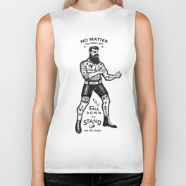 STAND UP AND TRY AGAIN Biker Tank