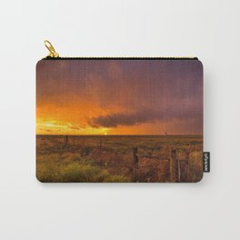 Sunset on the Plains - Sun Illuminates Sky After Stormy Day Carry-All Pouch