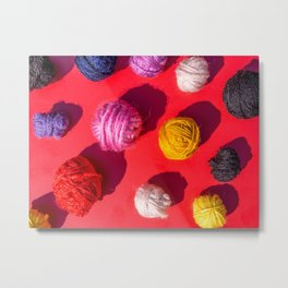 yarn balls for knitting or crochet Metal Print