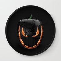 pumpkin Wall Clocks featuring pumpkin by Duitk