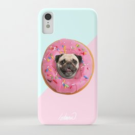 Pug Strawberry Donut iPhone Case
