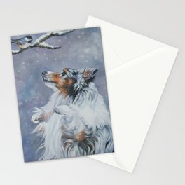 SHELTIE Shetland Sheepdog dog art from an original painting by L.A.Shepard Stationery Cards