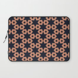 corail and black fabric Laptop Sleeve