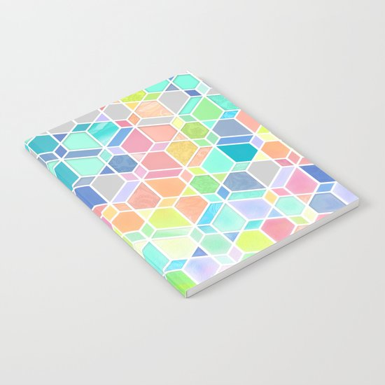 Rainbow Cubes & Diamonds Notebook