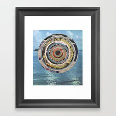 Round Sea Framed Art Print