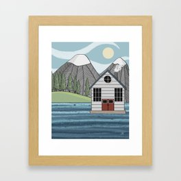 Greetings from Powell River Framed Art Print